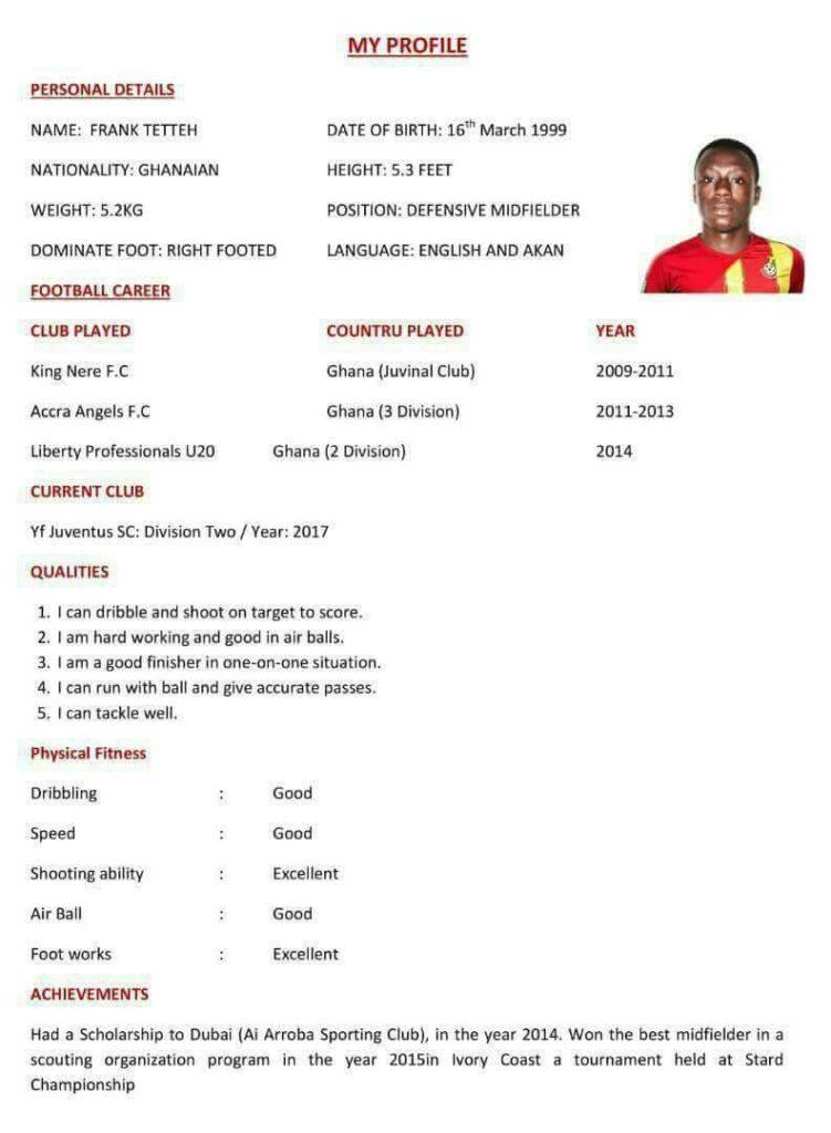 Frank Tetteh resume
