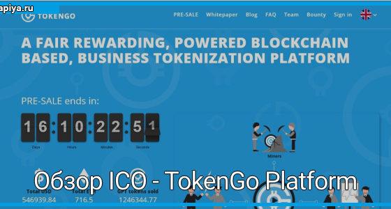 Обзор ICO - TokenGo Platform
