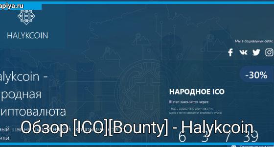 Обзор [ICO][Bounty] - Halykcoin