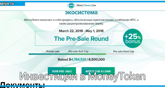 Инвестиции в MoneyToken