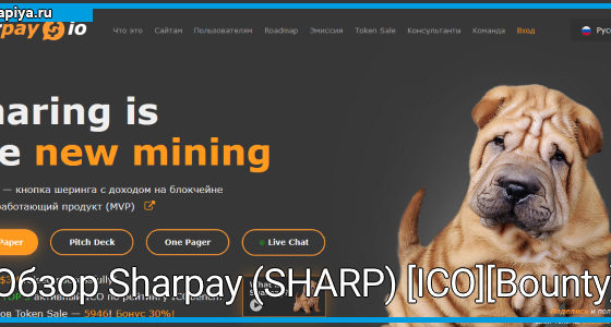 Обзор Sharpay (SHARP) [ICO][Bounty]